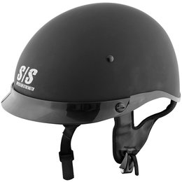 Gloss Black Speed & Strength Mens Ss300 Solid Speed Half Helmet 2014