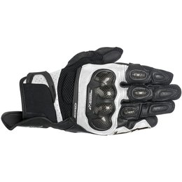 Alpinestars Mens SP-X SPX Air Carbon AC Touchscreen Textile Gloves White
