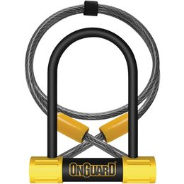 OnGuard Bulldog 13MM Mini DT U-Lock With 4 Foot Cable 8015 Unpainted