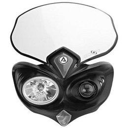Black Acerbis Cyclops Chromy Road Offroad Headlight 12v-55w