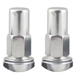 No Toil Anodized Aluminum Rim Lock Kit Pair Silver NTRK-001 Silver