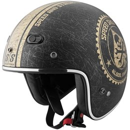 Black, Gold Speed & Strength Ss600 Speed Shop Open Face Helmet 2013 Black Gold
