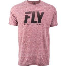 Fly Racing Mens Logo Fade Premium T-Shirt Red