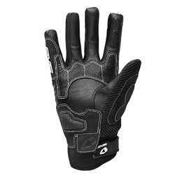 Black, White Evs Mens Nyc Leather Mesh Gloves 2013 Black White