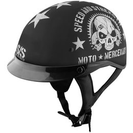Black Speed & Strength Mens Ss300 Moto Mercenary Half Helmet 2014