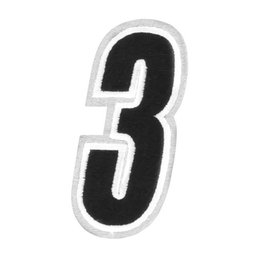 Black American Kargo 5 Inch Number #3 Three Patch 2014