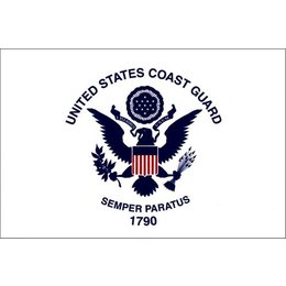Pro Pad US Coast Guard Flag For Up To 3/8 In Diameter Pole 6x9 In White Univ White
