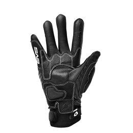 Black, White Evs Mens Silverstone Leather Gloves 2013 Black White