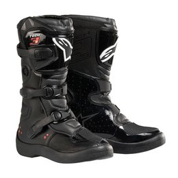 Black Alpinestars Youth Tech 3s Boots Us 10