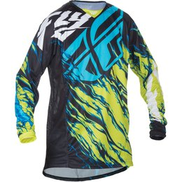 Fly Racing Mens MX Offroad Kinetic Relapse Jersey Yellow