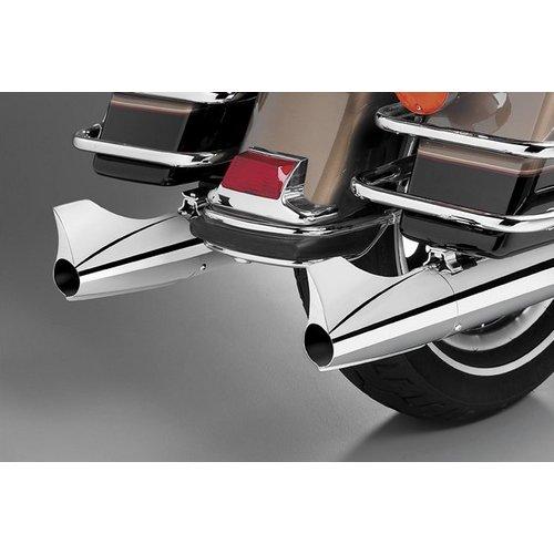 119 00 Supertrapp Kerker Exhaust End Cap Chrome Fishtail