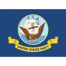 Pro Pad US Navy Flag For Up To 3/8 In Diameter Pole 6x9 In Blue Universal Blue