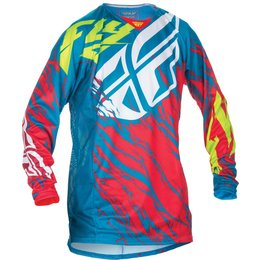 Fly Racing Mens MX Offroad Kinetic Relapse Jersey Blue