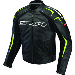 Black, Green Spidi Sport Mens Track Leather Jacket 2013 Us 42 Eu 52 Black Green