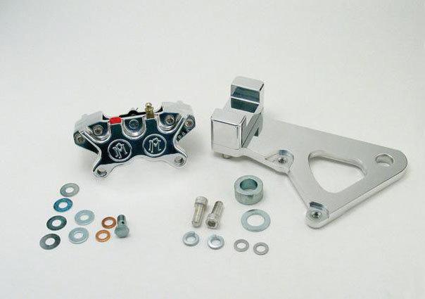 Performance MacHine Rear Caliper 11.5 Rotors Pol Alu H-D FXR//S FXRT FXWG 84-94