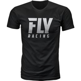 Fly Racing Mens Logo Premium Fit T-Shirt Black