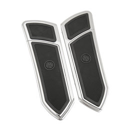 Performance Machine FTZ Driver Floorboards Pair For Harley Chrome 0036-1008-CH Unpainted