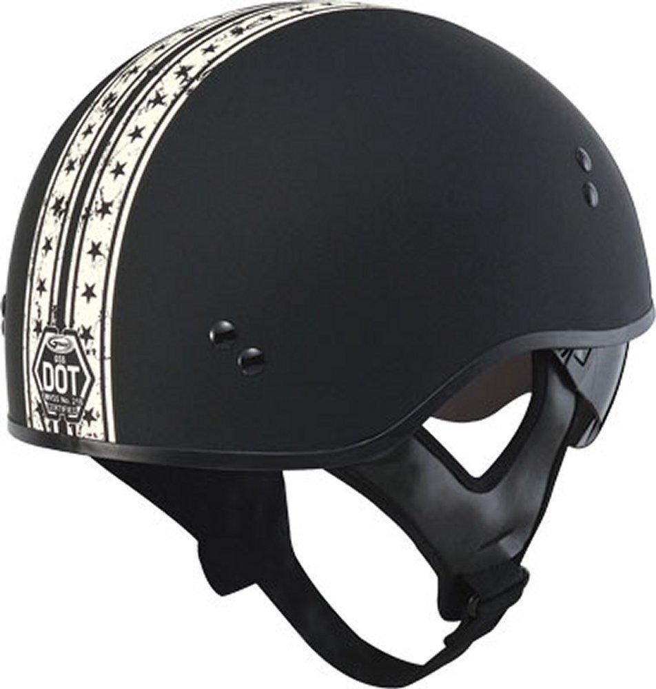 Gmax GM-65 Full Dress Solid Half Helmet Black size X-Small