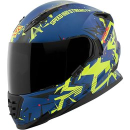 Speed & Strength SS1600 Critical Mass Full Face Motorcycle Helmet Blue