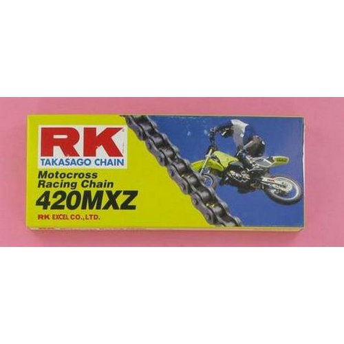 RK Racing Chain 420MXZ-110 110-Links MX Chain with Connecting Link
