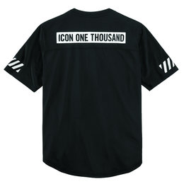 Icon Mens 1000 Collection Griddle Casual Jersey-Style Shirt Black