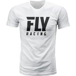 Fly Racing Mens Logo Premium Fit T-Shirt White