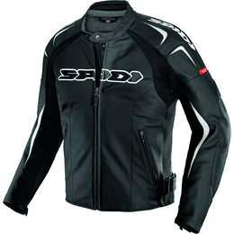 Black, White Spidi Sport Mens Track Wind Vented Leather Jacket 2013 Us 38 Eu 48 Black White