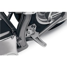 Chrome Alloy Art Folding Flush Mount Footpegs Wide Softail