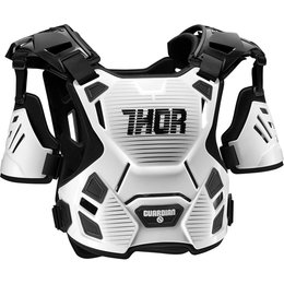 Thor Mens Guardian Chest/Back Roost Guard Protector White