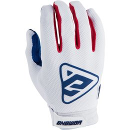 Answer Racing Mens AR-3 AR3 Gloves White