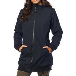 Fox Racing Womens Dazed Long Bomber Jacket Black