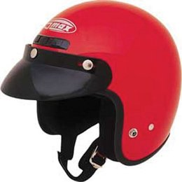 Red Gmax Youth Gm2y Open Face Helmet