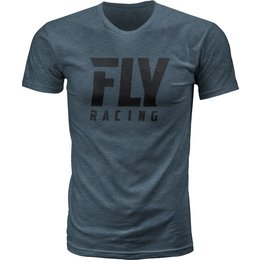 Fly Racing Mens Logo Premium Fit T-Shirt Blue