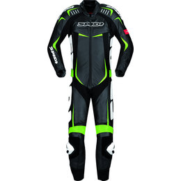 Black, Green Spidi Sport Mens Track Wind Pro 1 Pc Vented Lthr Suit 2013 Us 38 Eu 48 Blk Green