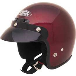 Wine Gmax Youth Gm2y Open Face Helmet
