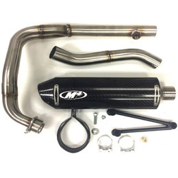 M4 Standard Full Exhaust With Carbon Muffler For Yamaha R3 2015-2017 YA3024 Unpainted