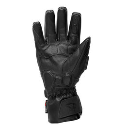 Black, White Evs Mens Cyclone Insulated Waterproof Leather Gloves 2013 Black White
