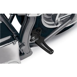 Black Alloy Art Folding Flush Mount Footpegs For Harley Softail