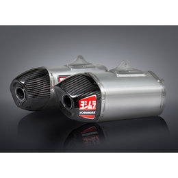 Stainless Steel Midpipes, Aluminum Mufflers, Carbon Fiber End Caps Yoshimura Rs-9 Dual Slip-on Mufflers Stainless Alum Carbon For Hon Crf450r 2013