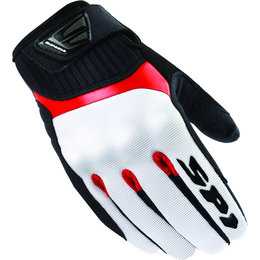 White, Black, Red Spidi Sport Mens G-flash Textile Gloves 2013 White Black Red