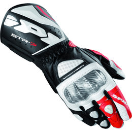 Black, Red Spidi Sport Mens Str-3 Vented Leather Gloves 2013 Black Red