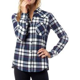 Fox Racing Womens Long Sleeve Flown Flannel Blue