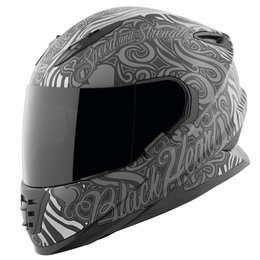 Speed & Strength Womens Black Heart Full Face Helmet Black