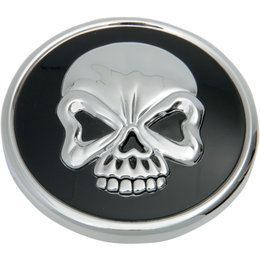 Drag Specialties Skull Vented Gas Cap For Harley-Davidson Black 0703-0523