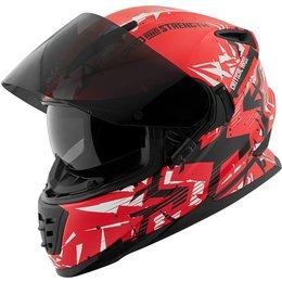 Speed & Strength SS1600 Critical Mass Full Face Motorcycle Helmet Red