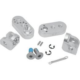 Cycle Pirates 360-Degree Adjustable Footpeg Mount Kit For Suzuki Silver SAP-S