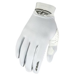 Fly Racing Mens Pro Lite Textile Gloves White