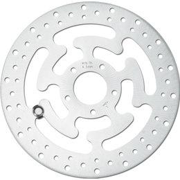 HardDrive Front Left 11.8 Inch Diameter Brake Rotor For Harley Stainless 11-059 Silver