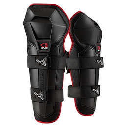 Black Evs Boys Option Knee Shin Guards Pair 2013