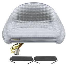Bikemaster Integrated LED Tail Light Clear Lens For Kawasaki TZK-058-INT Transparent